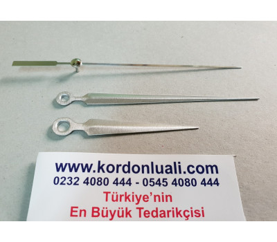 Akrep 6,7 cm Yelkovan 10 cm Metal Gümüş 100 Adet