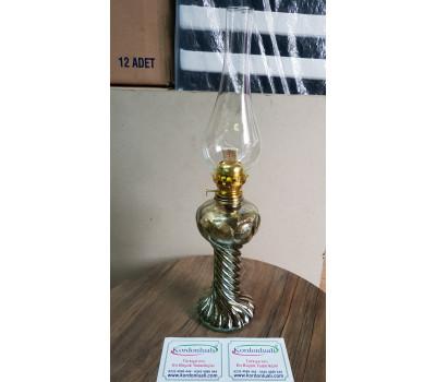 Gaz Lambası Burgulu 48 cm Koyu Füme