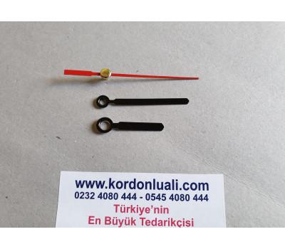 Akrep 3,5 cm Yelkovan 5 cm Metal Siyah 100 Adet