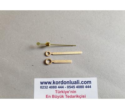 Akrep 3,5 cm Yelkovan 5 cm Metal Gold 100 Adet