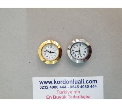 Geçme Saat 2,7 cm Gold Veya Gümüş Roma Rakamlı 100 Ad