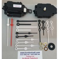 Sarkaçlı Saat Makinesi Şaft 14 mm Plastik Akrep Yelkovan 100 Ad
