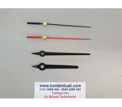Akrep 7,6 cm Yelkovan 9,6 cm Metal Siyah 100 Adet