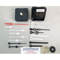 Saat Motoru Askısız Akar Şaft 18,5 mm Plastik Akrep Yelkovan 100 Ad