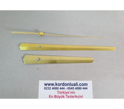 Akrep 11,5 cm Yelkovan 16,5 cm Metal Gold 100 Adet