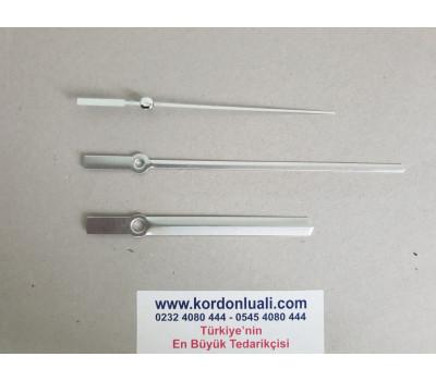 Akrep 10 cm Yelkovan 14,5 cm Metal Gümüş 100 Adet