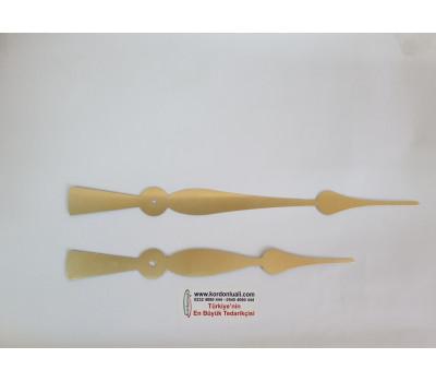 Akrep 27,5 cm Yelkovan 34 cm Metal Gold 100 Adet