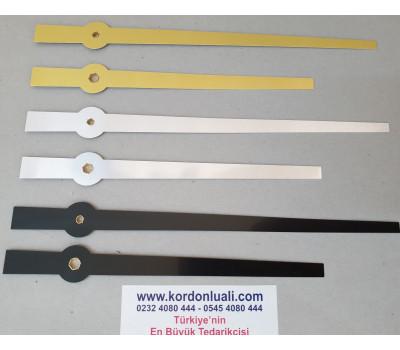 Akrep 17,5 cm Yelkovan 21,8 cm Metal Siyah Gümüş Veya Gold