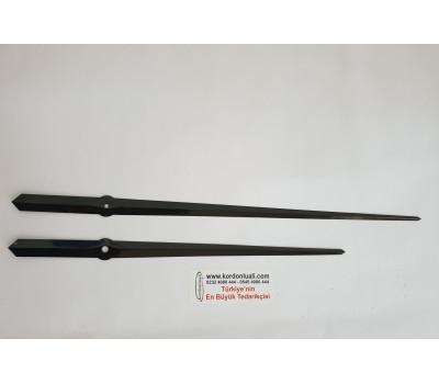 Akrep 30 Yelkovan 38 cm Metal Siyah 100 Ad